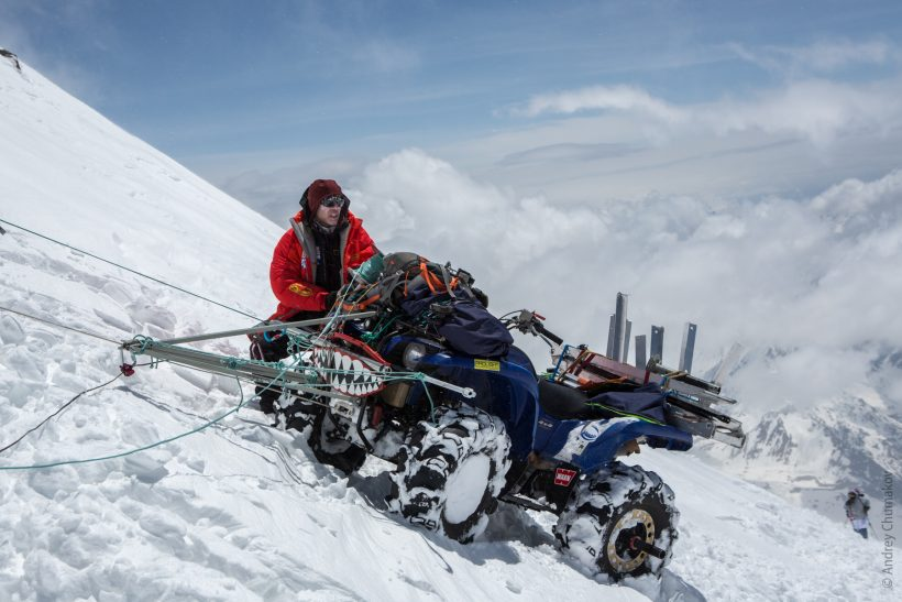 THE QUADRICYCLE ON ELBRUS PEAK!