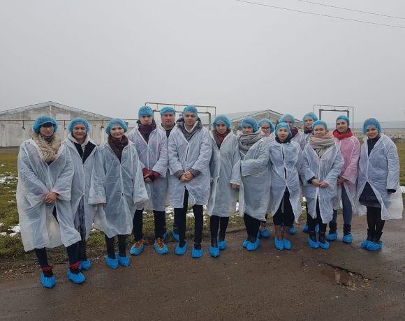 Peoples' Friendship University of Russia students get acquainted with chickens