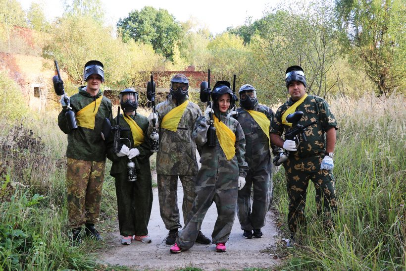 Corporate paintball